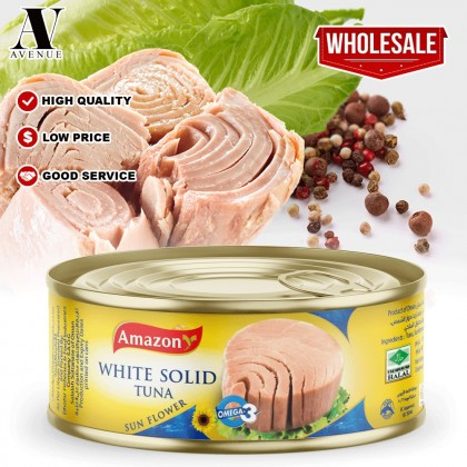 Amazon White Solid Tuna in Sun Flower Oil 160g